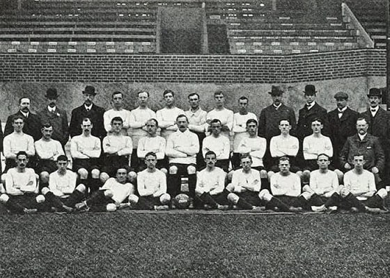 The first team photo of the Fulham FC